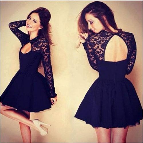 black-short-lace-dress